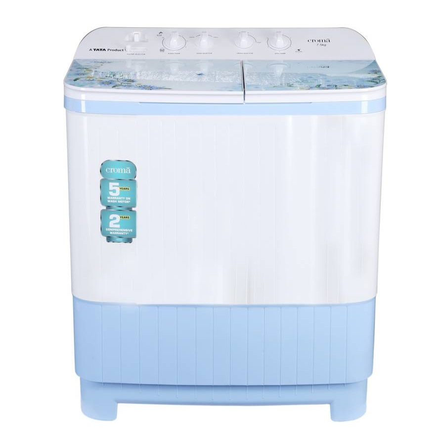 Croma CRAW2223 7.5 Kg Semi Automatic Top Loading Washing Machine