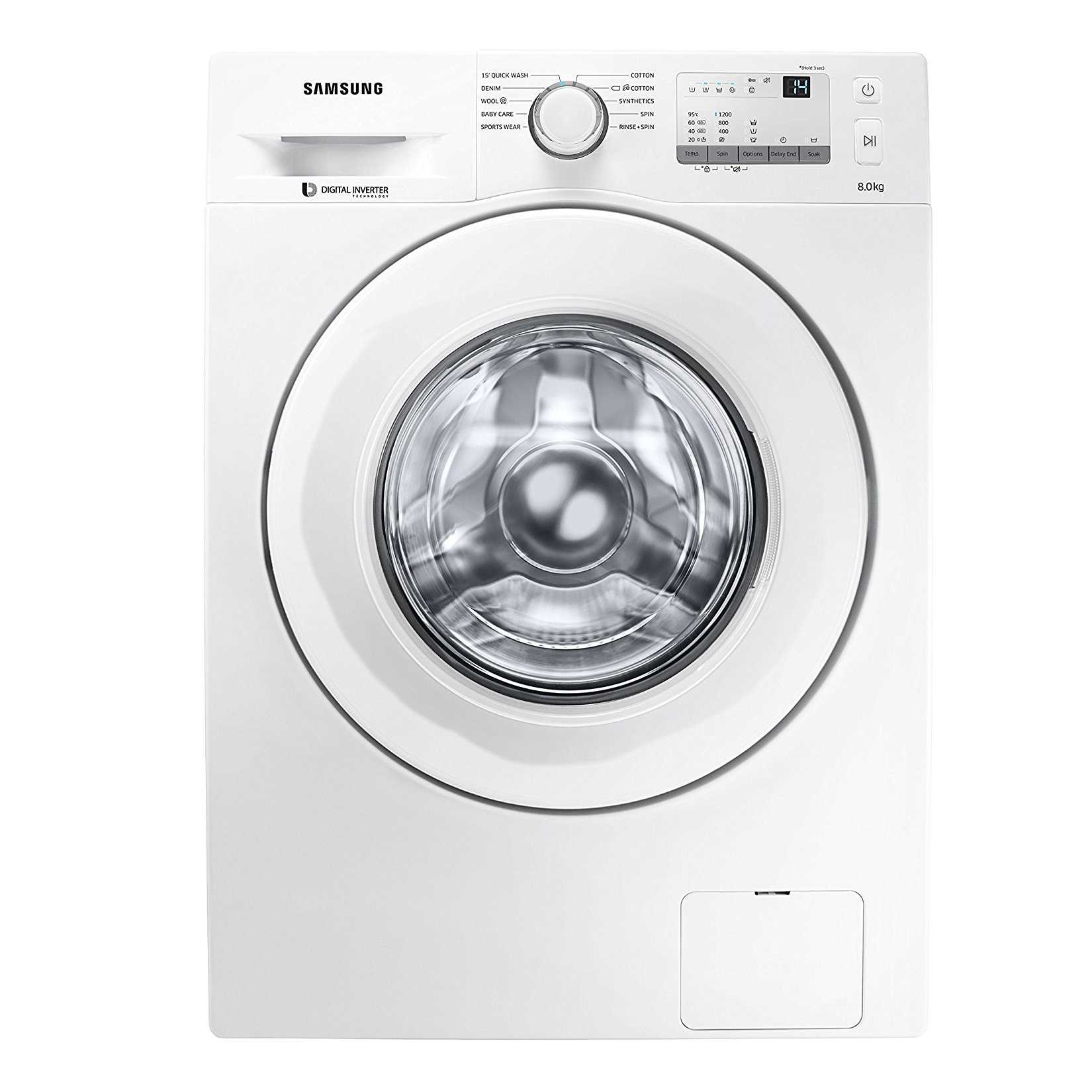 Samsung WW80J3237KW 8 Kg Fully Automatic Front Loading Washing Machine