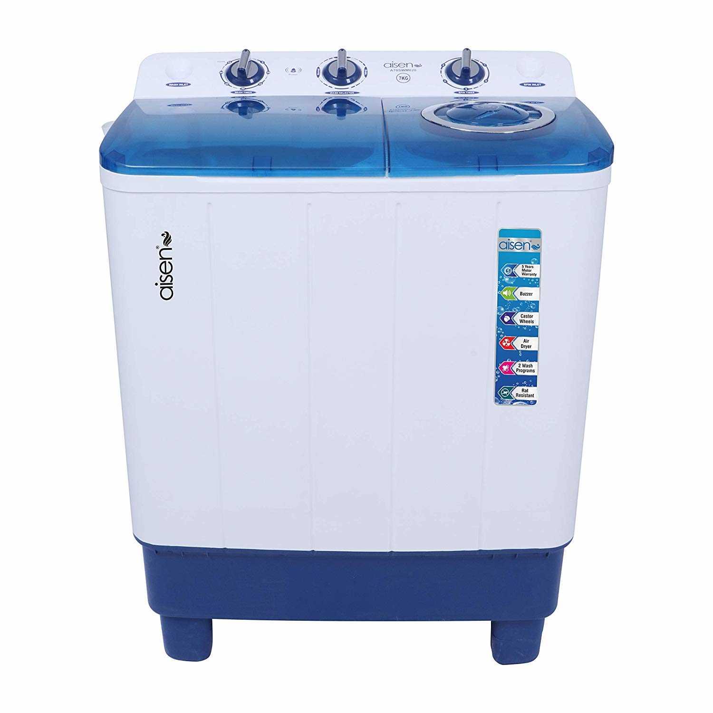 Aisen A70SWM620 7 Kg Semi Automatic Top Loading Washing Machine