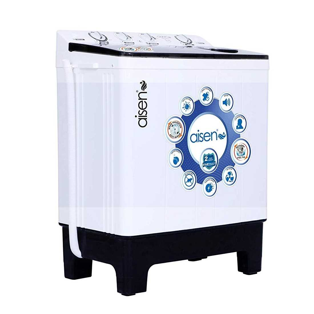 Aisen A85SWM810 8.5 Kg Semi Automatic Top Loading Washing Machine