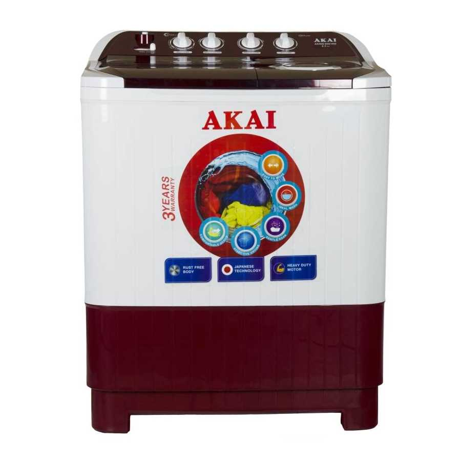Akai AKSW-8501RD 8.5 Kg Semi Automatic Top Loading Washing Machine