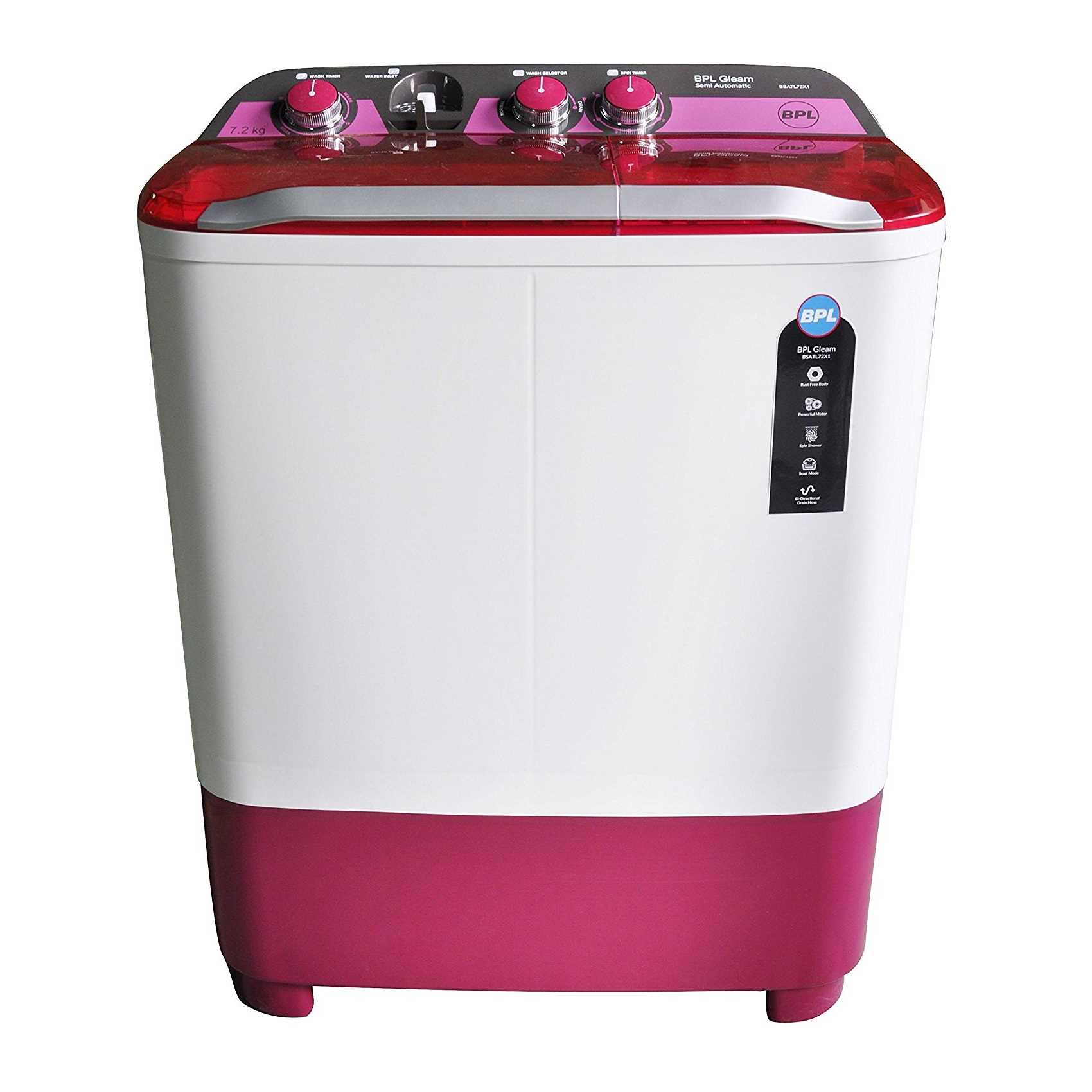 BPL BSATL72X1 7.2 Kg Semi Automatic Top Loading Washing Machine