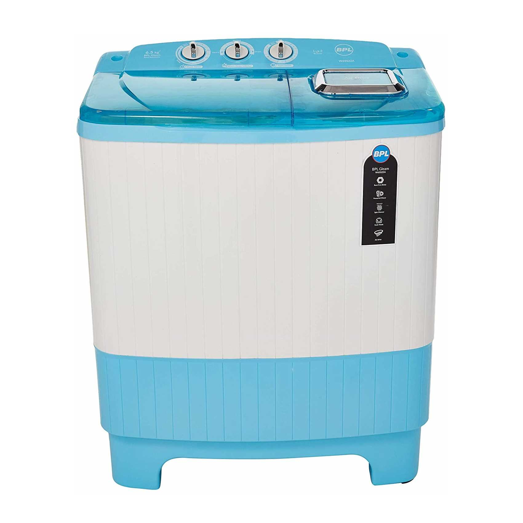 BPL W65S22A 6.5 Kg Semi Automatic Top Loading Washing Machine