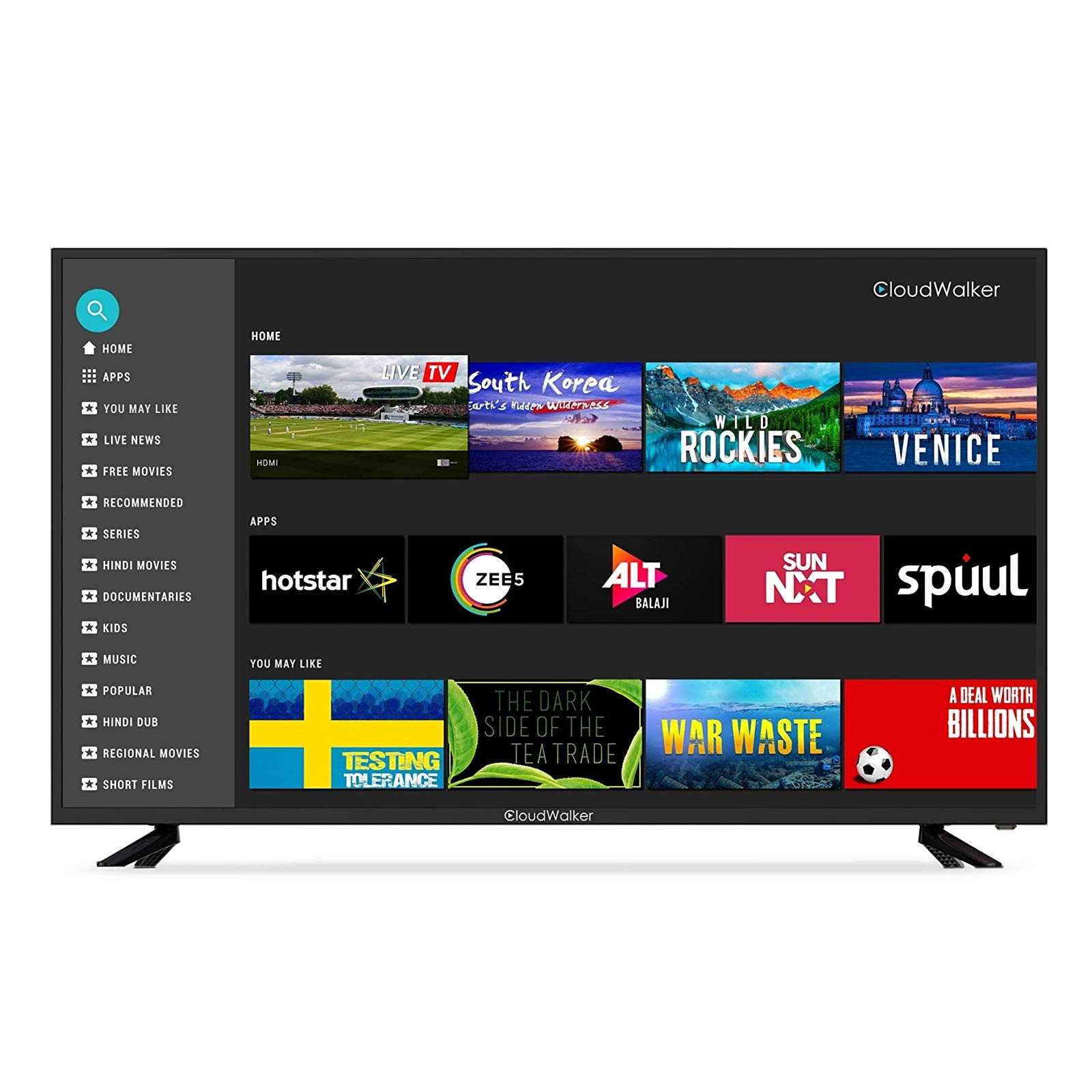 CloudWalker Cloud X2 55SUX2 55 Inch 4K Ultra HD Smart LED Television