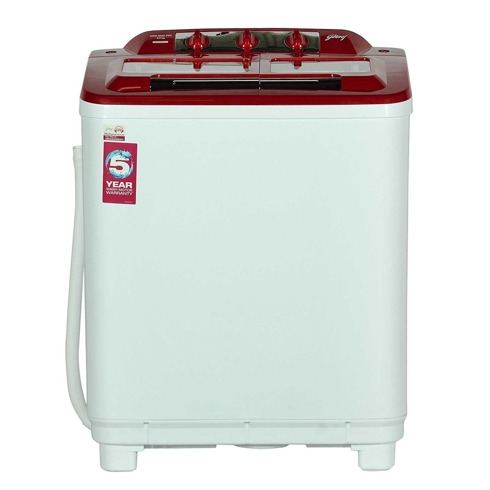 Godrej GWS 6502 PPC 6.5 Kg Semi Automatic Washing Machine