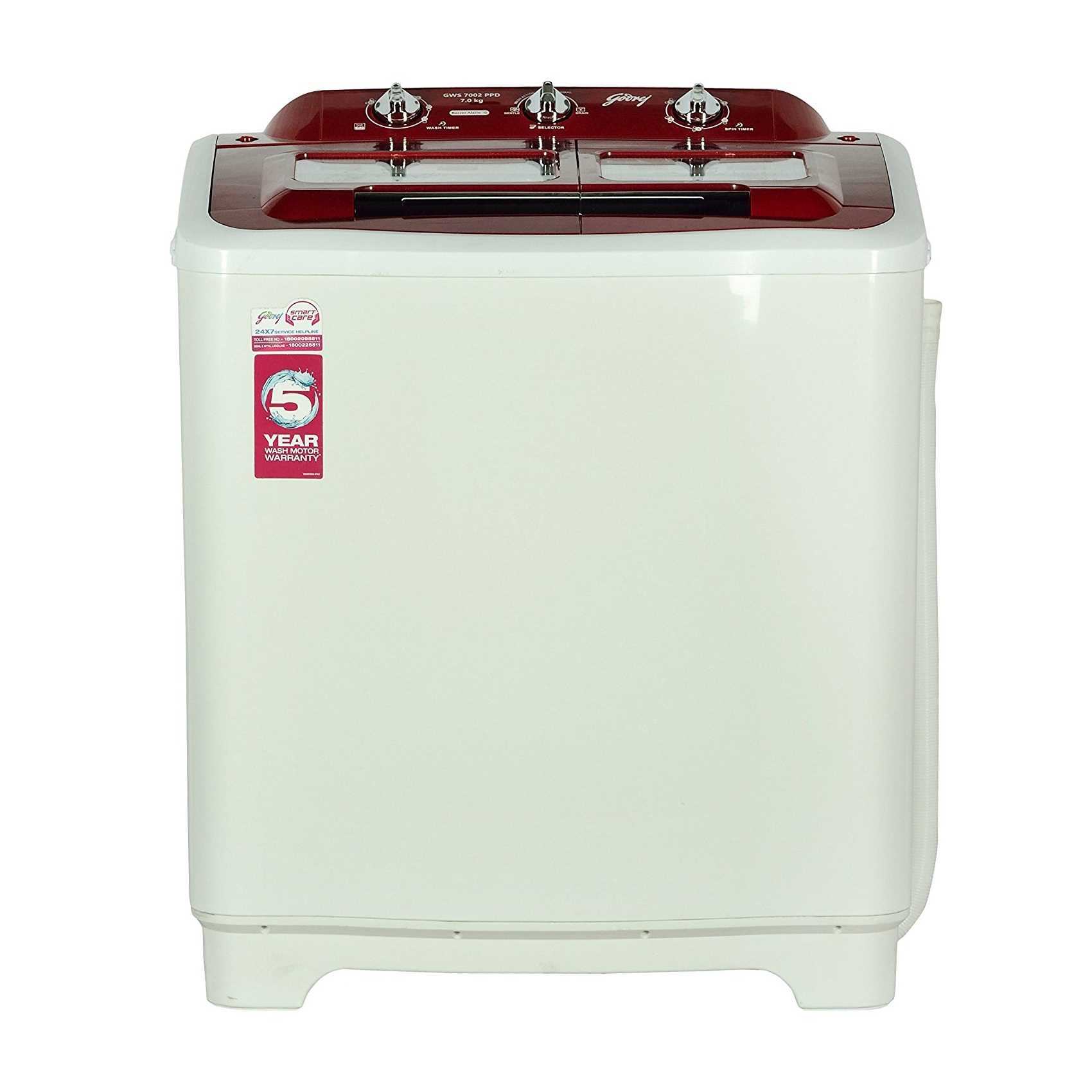 Godrej GWS 7002 PPD 7 Kg Semi Automatic Top Loading Washing Machine