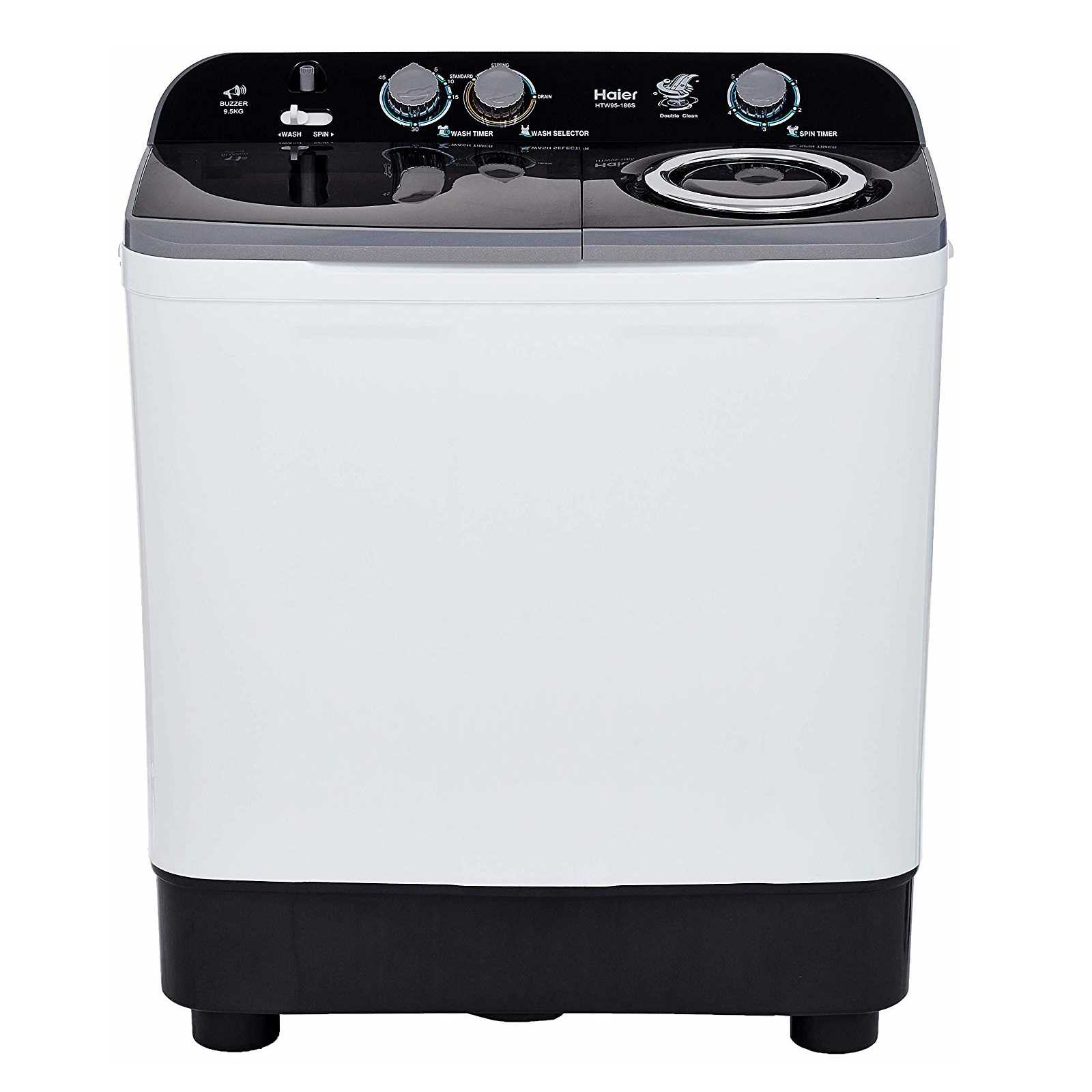 Haier HTW95-186S 9.5 Kg Semi Automatic Top Loading Washing Machine