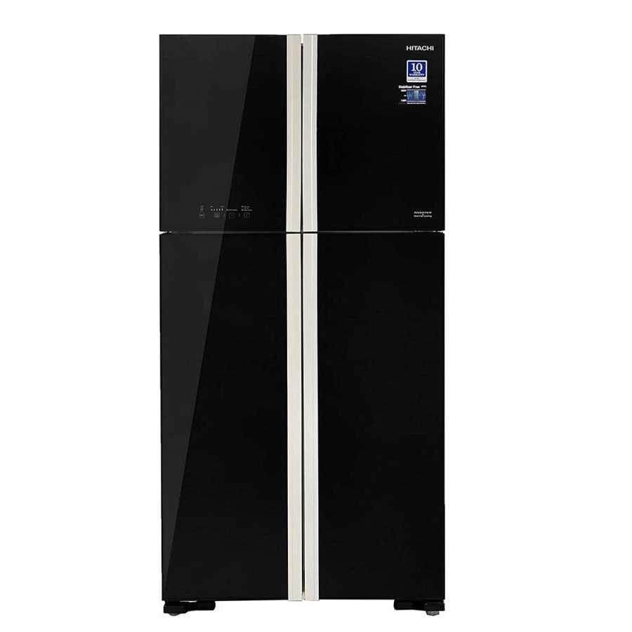Hitachi R W610PND4 GBK 563 Liters Frost Free Double Door Top Mount Refrigerator