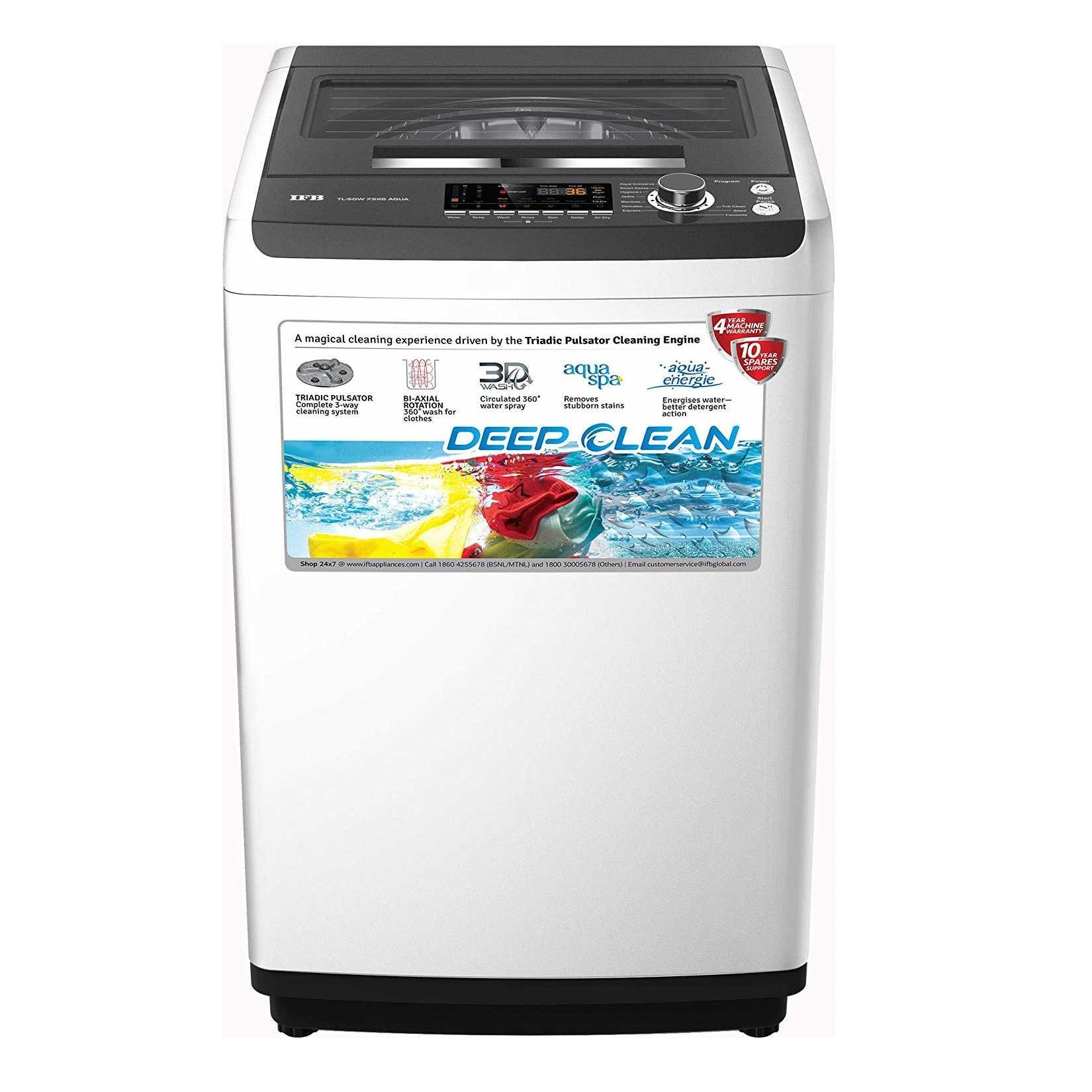 IFB TL-SDW Aqua 7.5 Kg Fully Automatic Top Loading Washing Machine