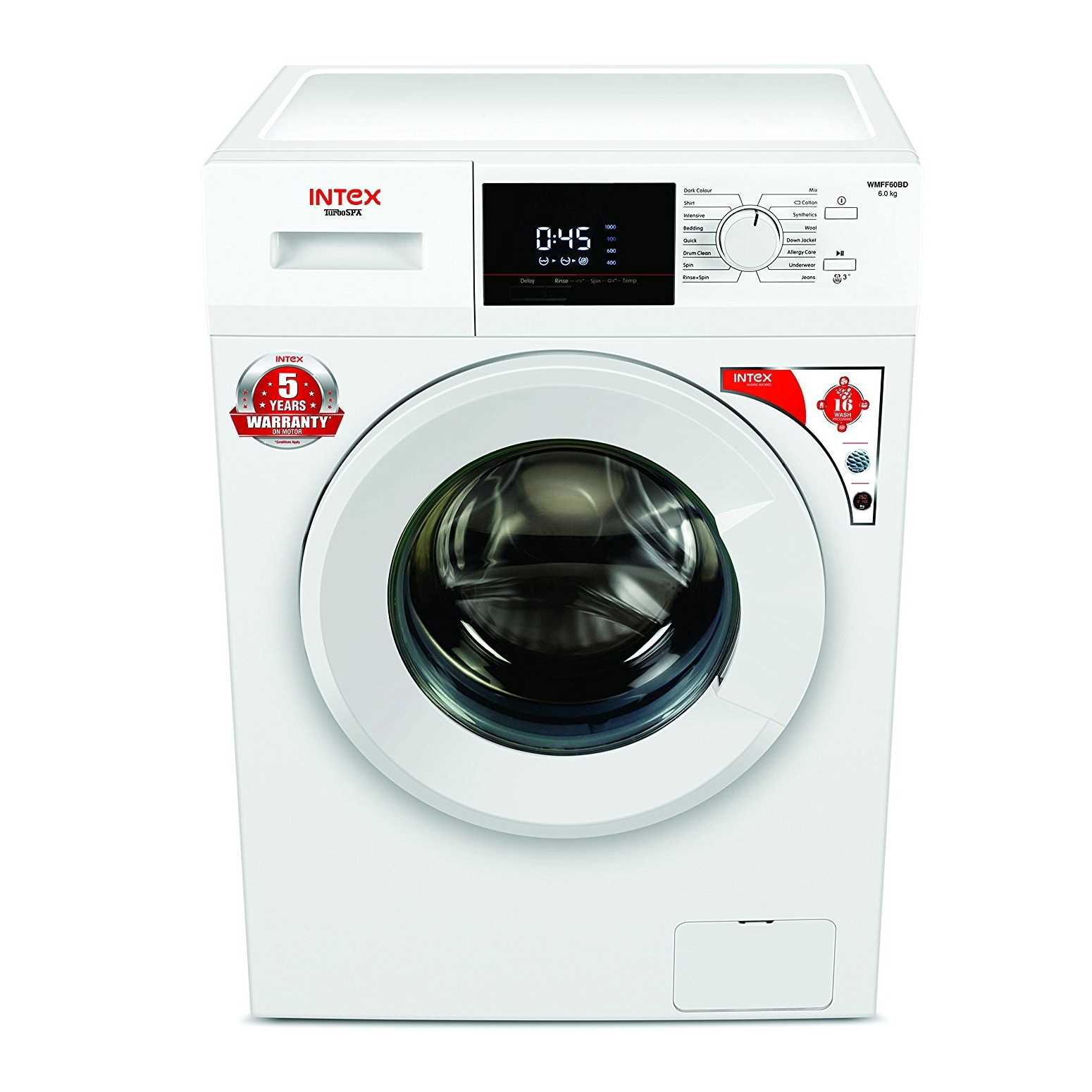 Intex WMFF60BD 6 Kg Fully Automatic Front Loading Washing Machine