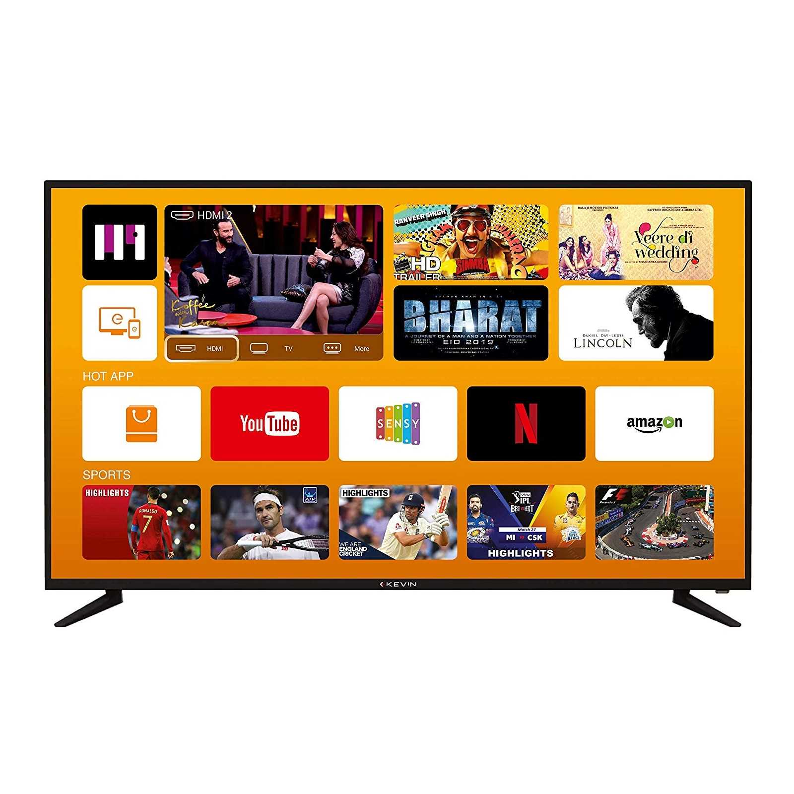 Kevin KN49UHD-PRO 49 Inch 4K Ultra HD Smart LED Television