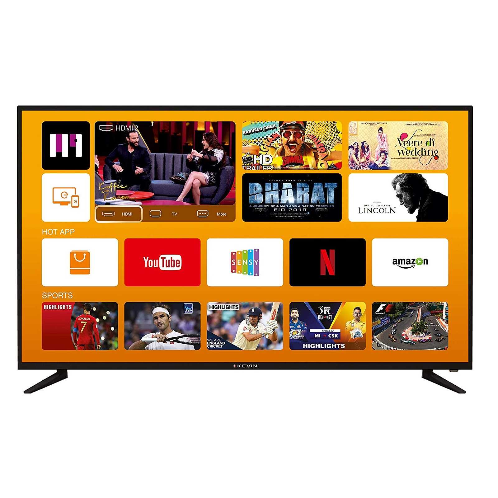 Kevin KN55UHD-PRO 55 Inch 4K Ultra HD Smart LED Television