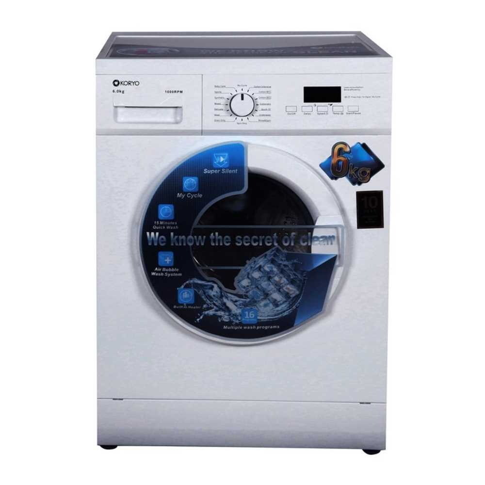 Koryo KWM1060FL 6 Kg Fully Automatic Front Loading Washing Machine