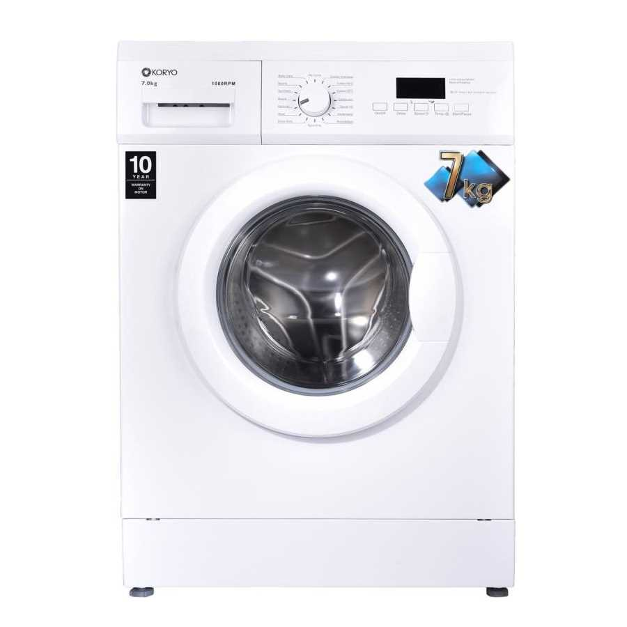 Koryo KWM1272FL 7 Kg Fully Automatic Front Loading Washing Machine