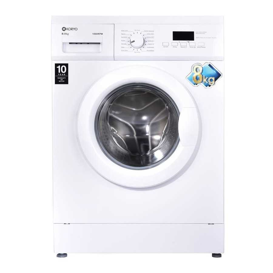 Koryo KWM1480FL 8 Kg Fully Automatic Front Loading Washing Machine