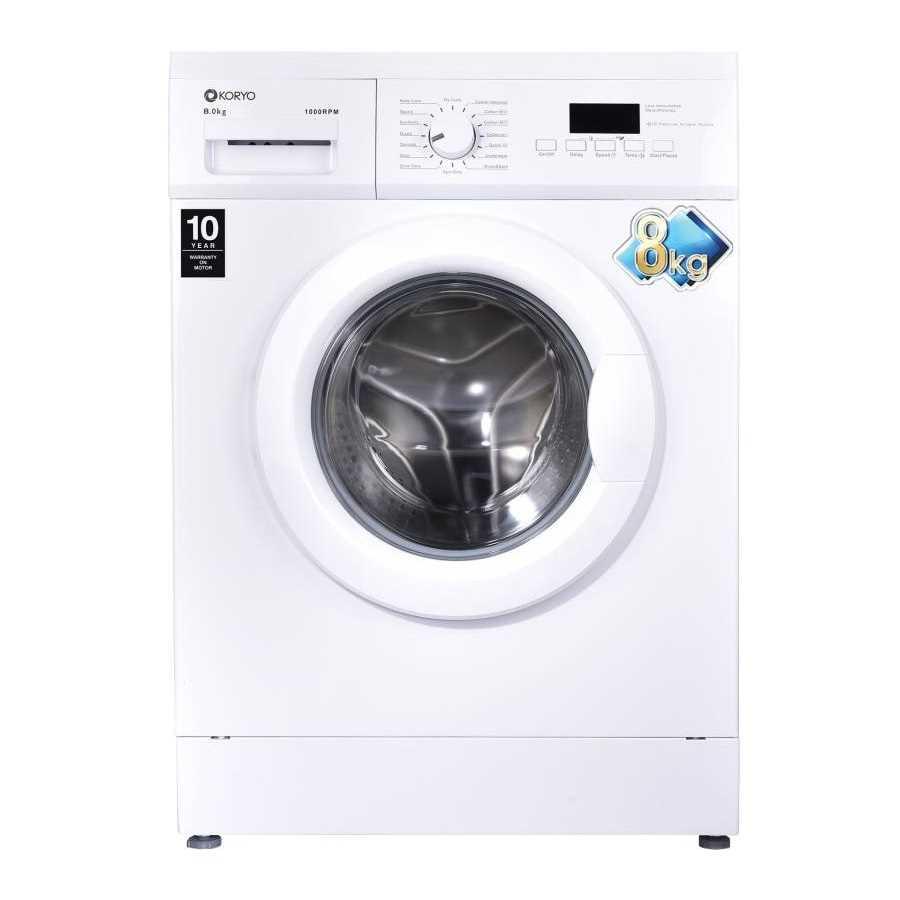 Koryo KWM1480FL 8 Kg Fully Automatic Front Loading Washing Machine