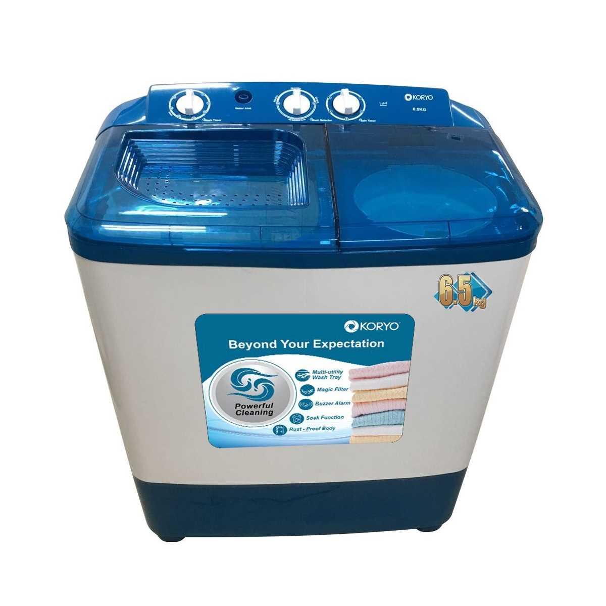 Koryo KWM6818SA 6.5 Kg Semi Automatic Top Loading Washing Machine