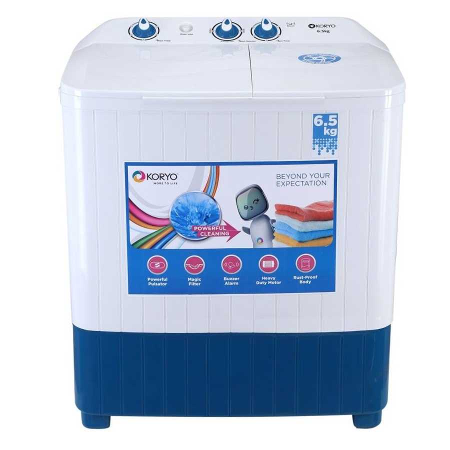 Koryo KWM6820SA 6.5 Kg Semi Automatic Top Loading Washing Machine