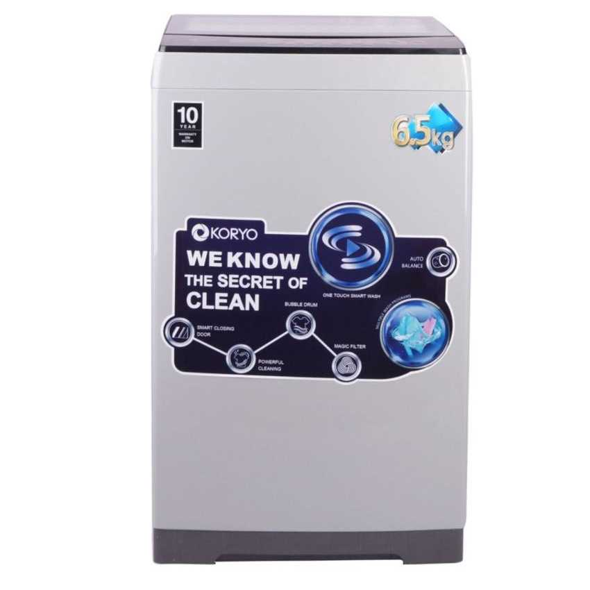 Koryo KWM6820TL 6.5 Kg Fully Automatic Top Loading Washing Machine