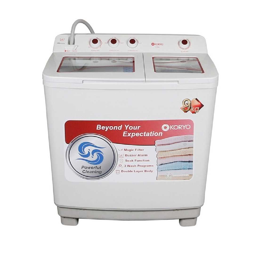 Koryo KWM9017SA 9 Kg Semi Automatic Top Loading Washing Machine