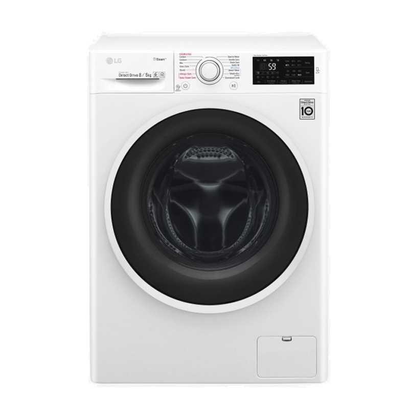 LG F4J6TGP0W 8 Kg-5 Kg Front Loading Washer Dryer