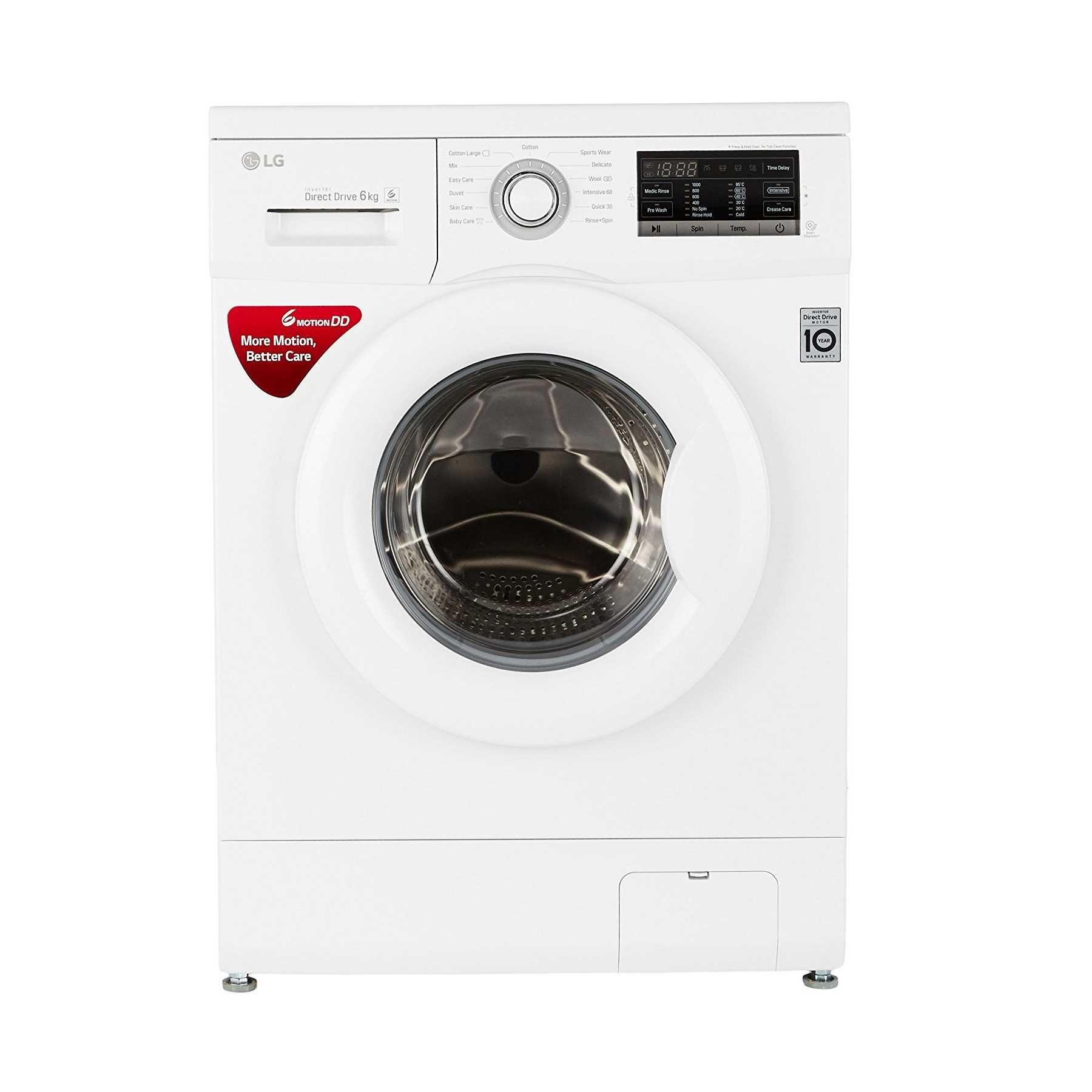 LG FH0G7NDNL02 6 Kg Fully Automatic Front Loading Washing Machine