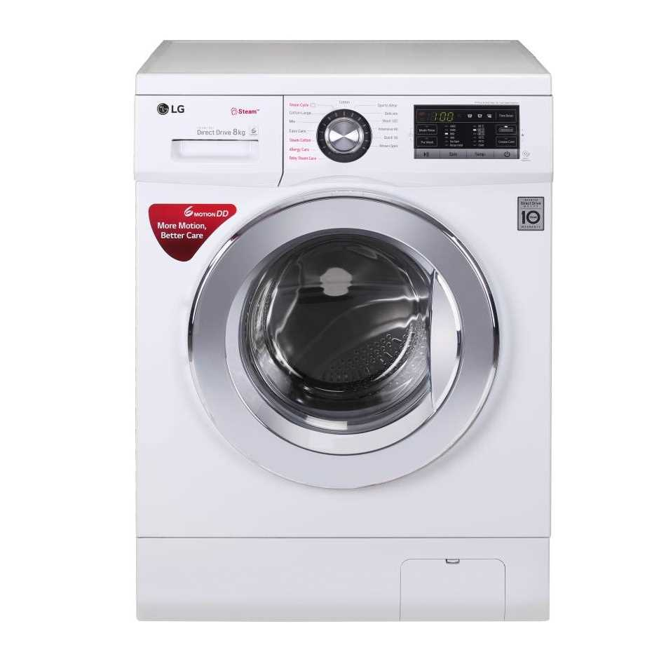LG FH4G6TDYL22 8 Kg Fully Automatic Front Loading Washing Machine