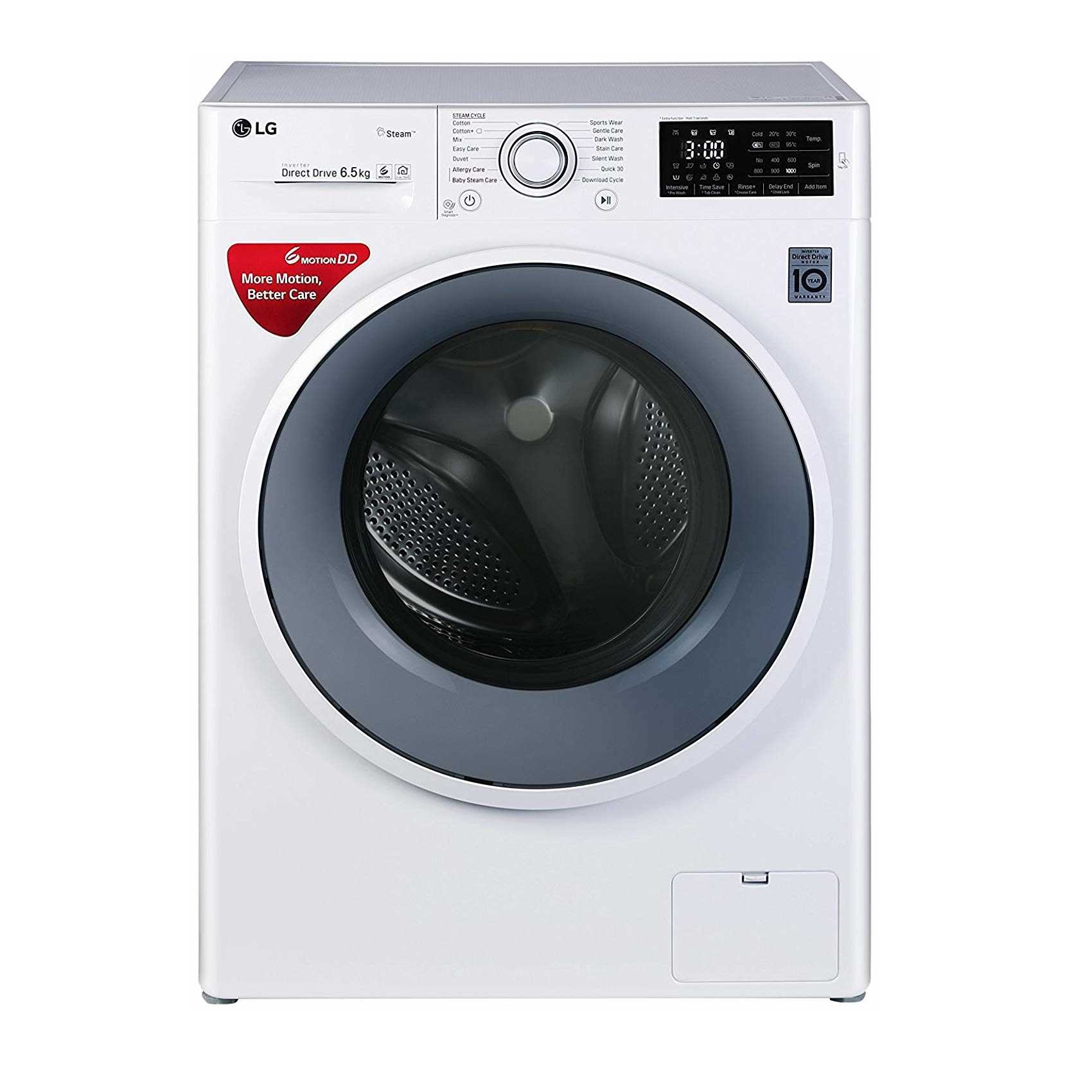 LG FHT1065SNW.ABWPEIL 6.5 Kg Fully Automatic Front Loading Washing Machine
