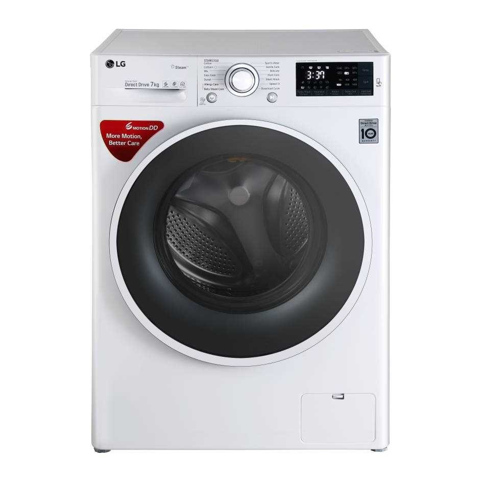 LG FHT1207SWW 7 Kg Fully Automatic Front Loading Washing Machine