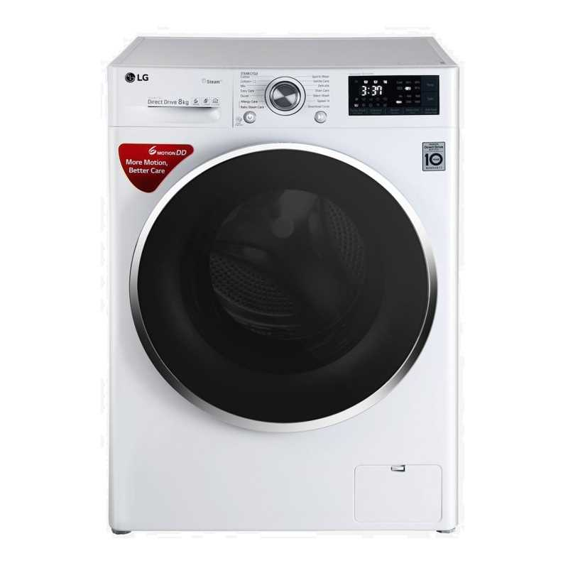 LG FHT1208SWW 8 Kg Front Loading Fully Automatic Washing Machine
