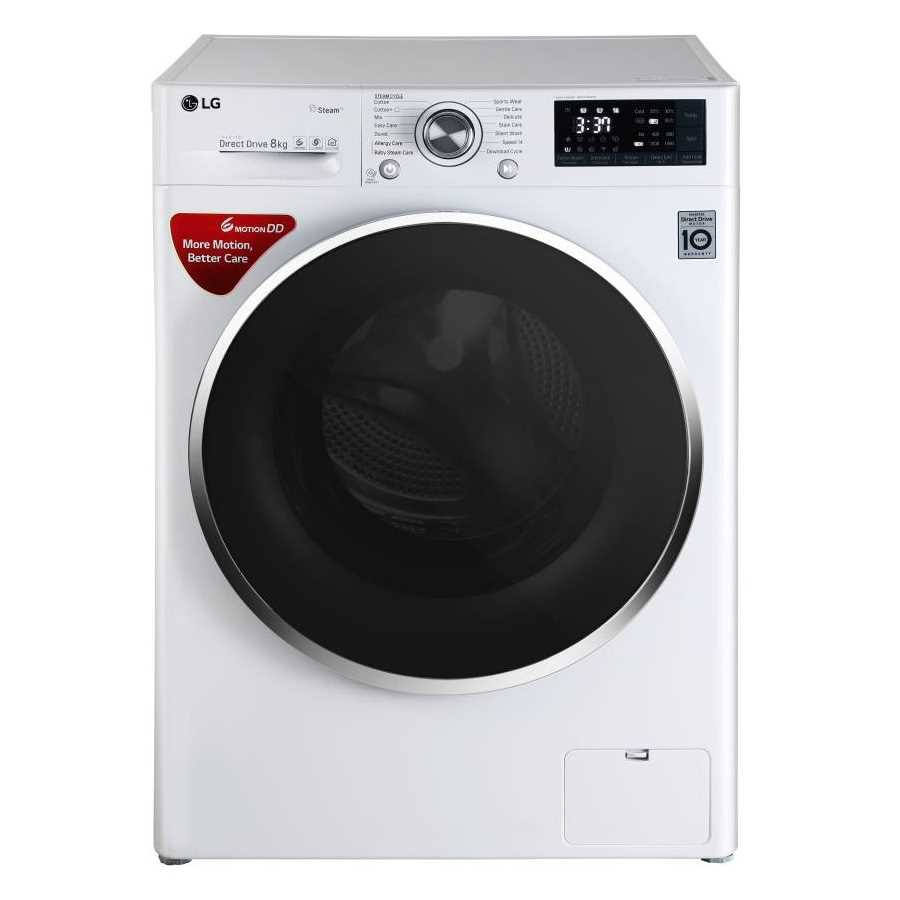 LG FHT1408SW 8 Kg Fully Automatic Front Loading Washing Machine