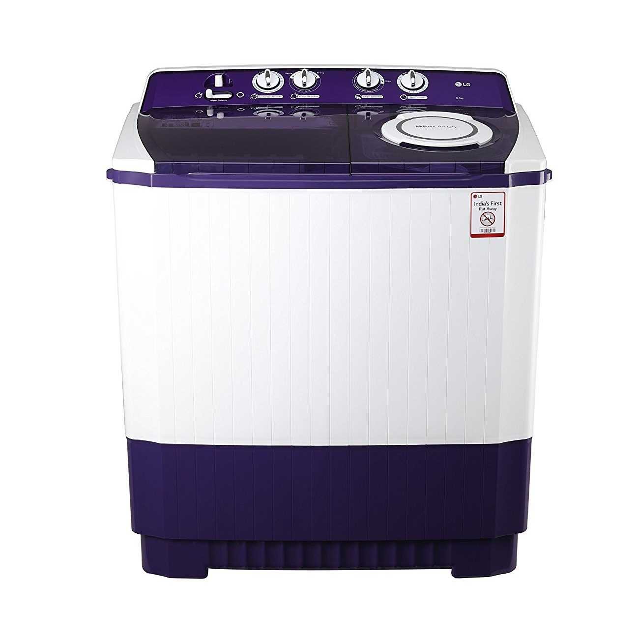 LG P1565R3SA 9.5 Kg Semi Automatic Top Loading Washing Machine