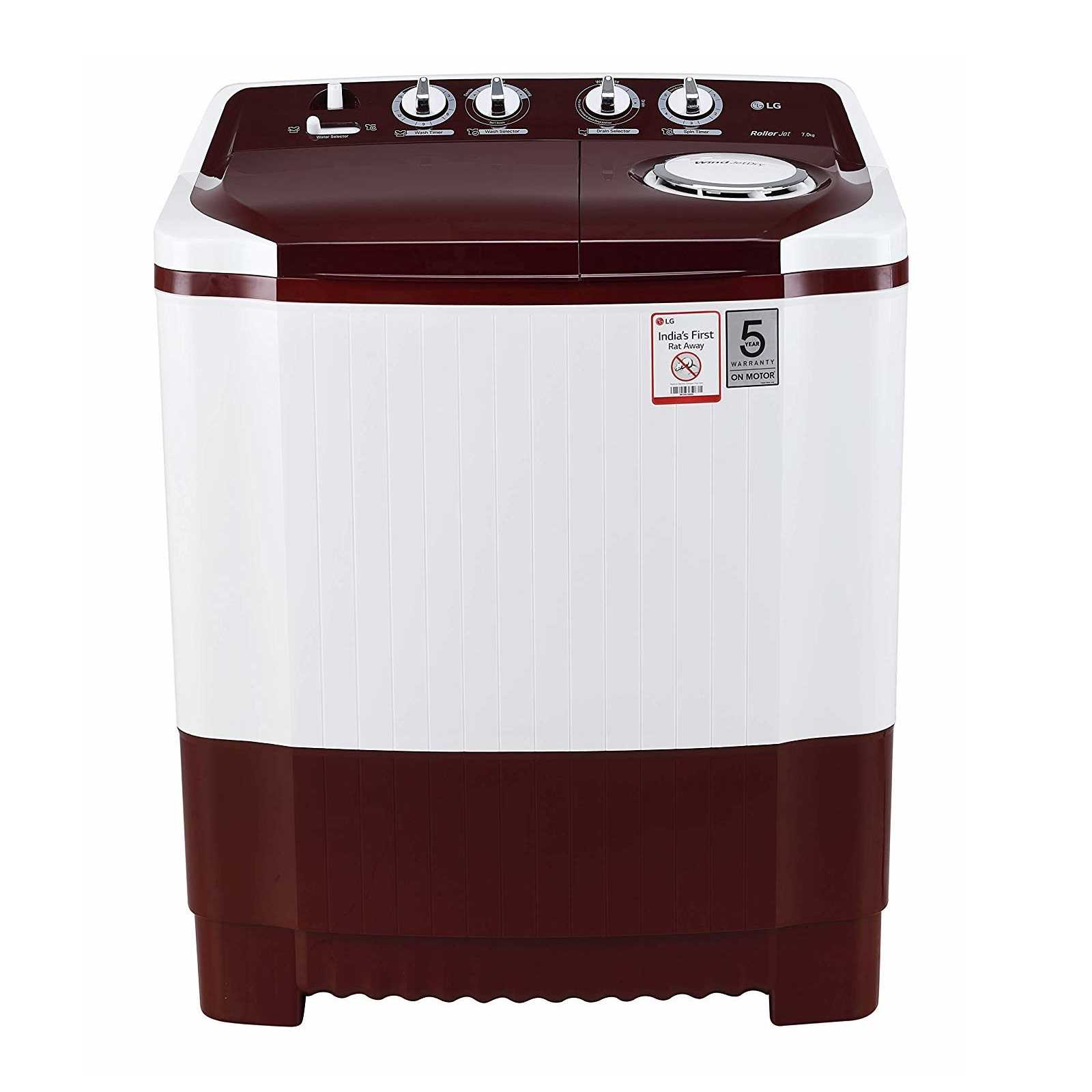 LG P7010RRAA 7 Kg Semi Automatic Top Loading Washing Machine