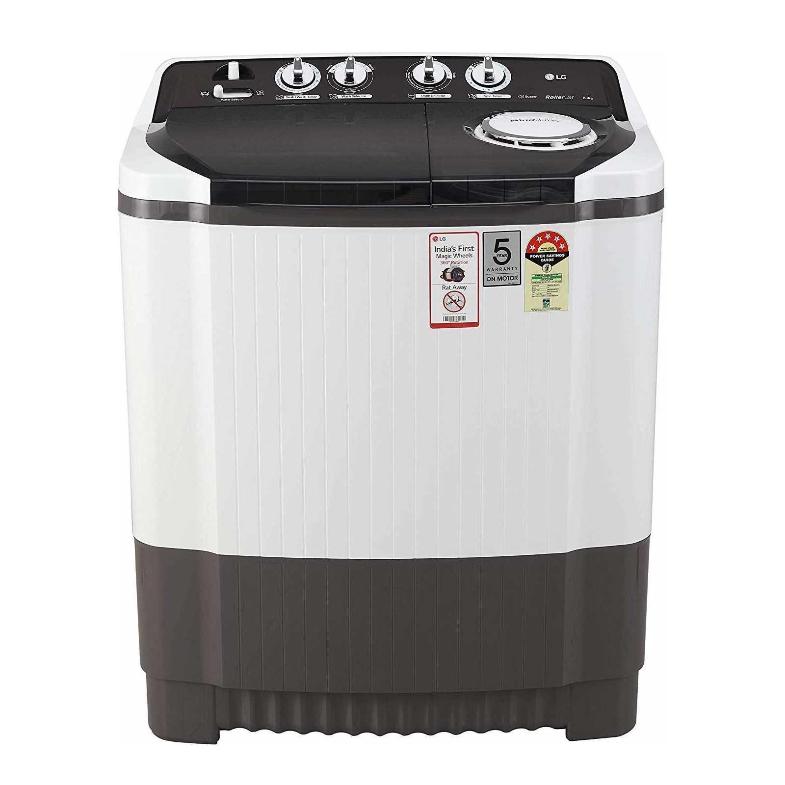 LG P8035SGMZ 8 Kg Semi Automatic Top Loading Washing Machine