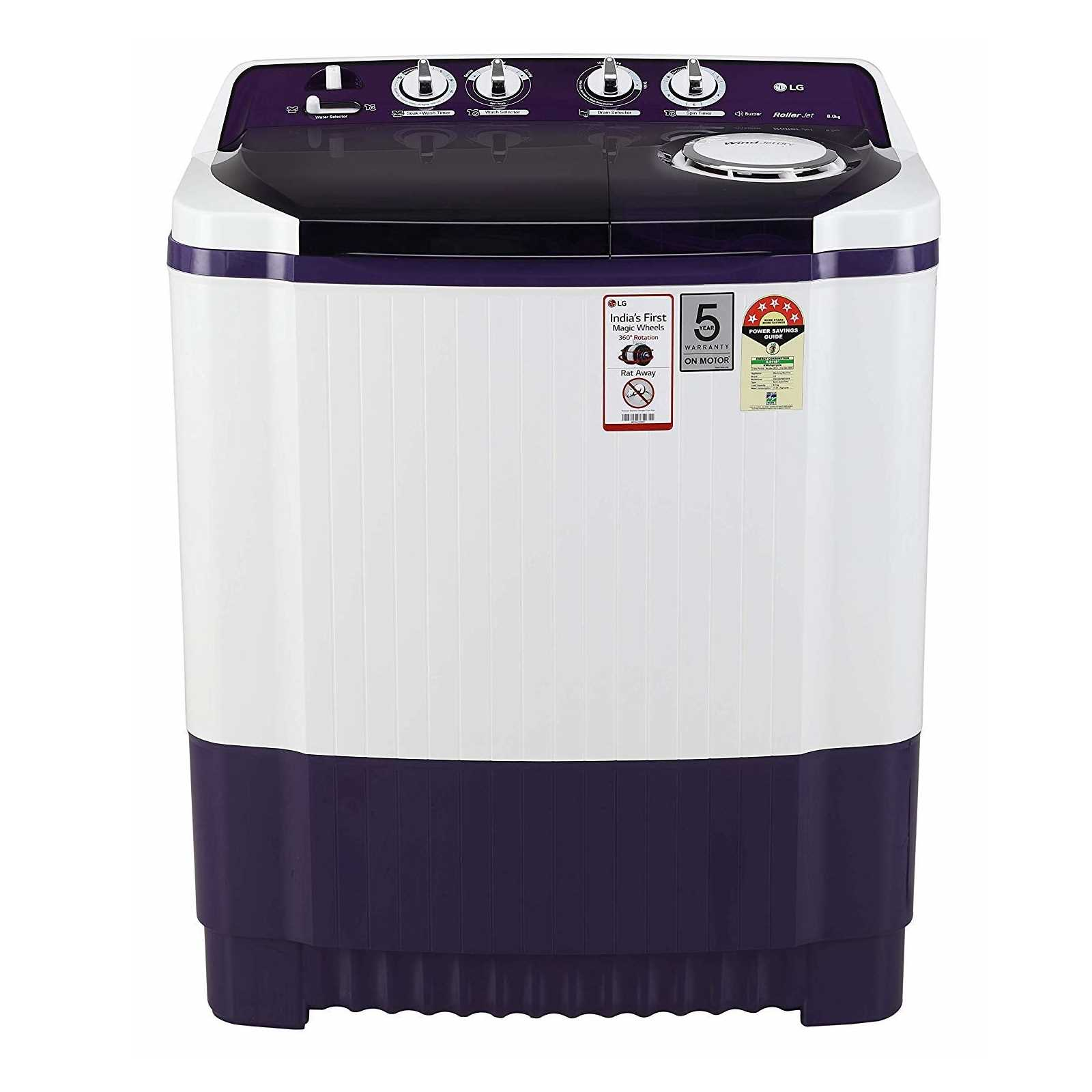 LG P8035SPMZ 8 Kg Semi Automatic Top Loading Washing Machine
