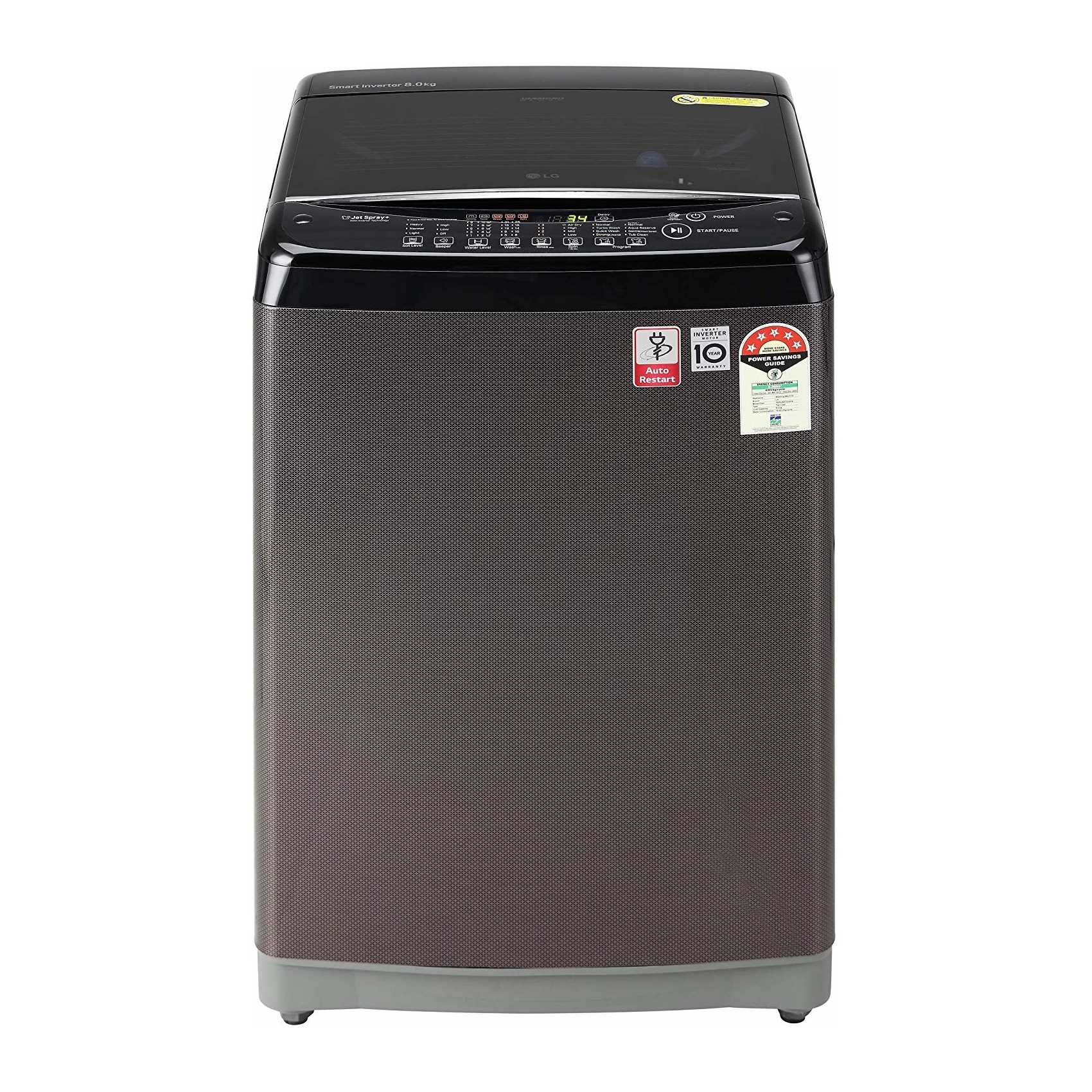 LG T80SJBK1Z 8 Kg Fully Automatic Top Loading Washing Machine