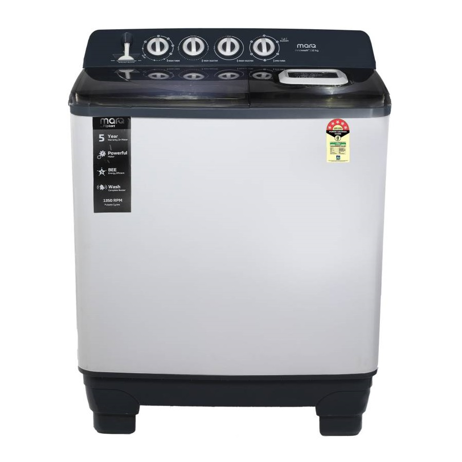 MarQ by Flipkart MQSA10C5G 10 Kg Semi Automatic Top Loading Washing Machine