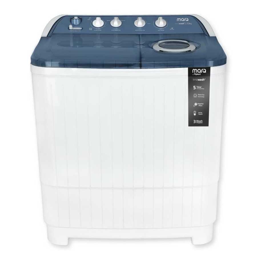 MarQ by Flipkart MQSA75CBLW 7.5 Kg Semi Automatic Top Loading Washing Machine