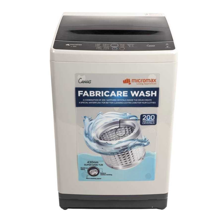 Micromax MWMFA821TTSS2GY 8.2 Kg Fully Automatic Top Loading Washing Machine