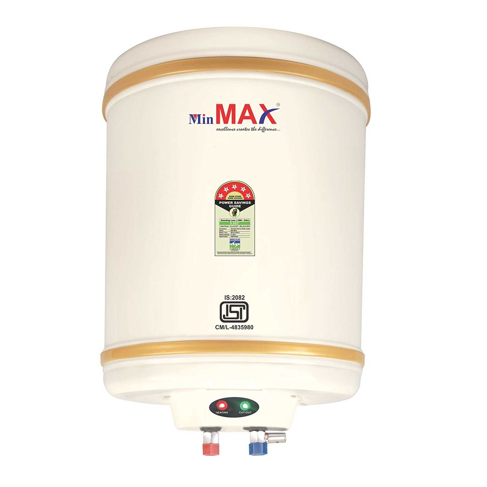 Min Max Eco-EG 15 Litre Storage Water Heater
