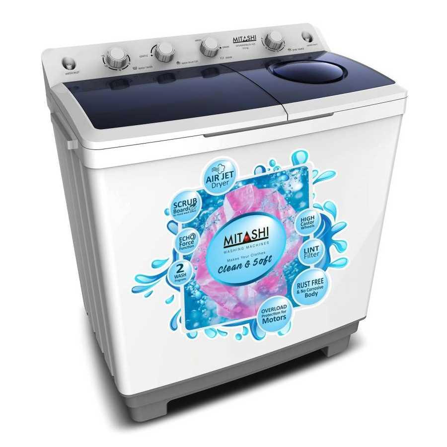 Mitashi MiSAWM98v25 AJD 9.8 Kg Semi Automatic Top Loading Washing Machine