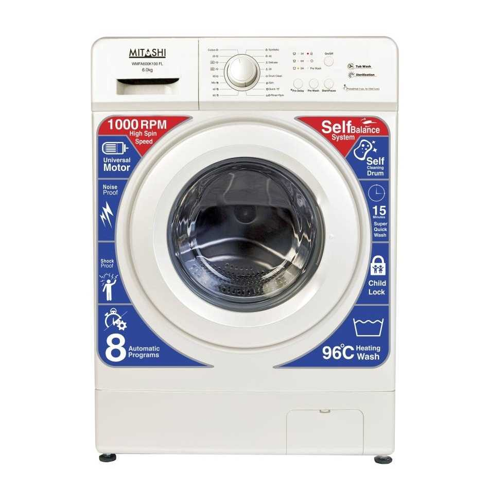 Mitashi WMFA600K100 FL 6 Kg Fully Automatic Front Loading Washing Machine