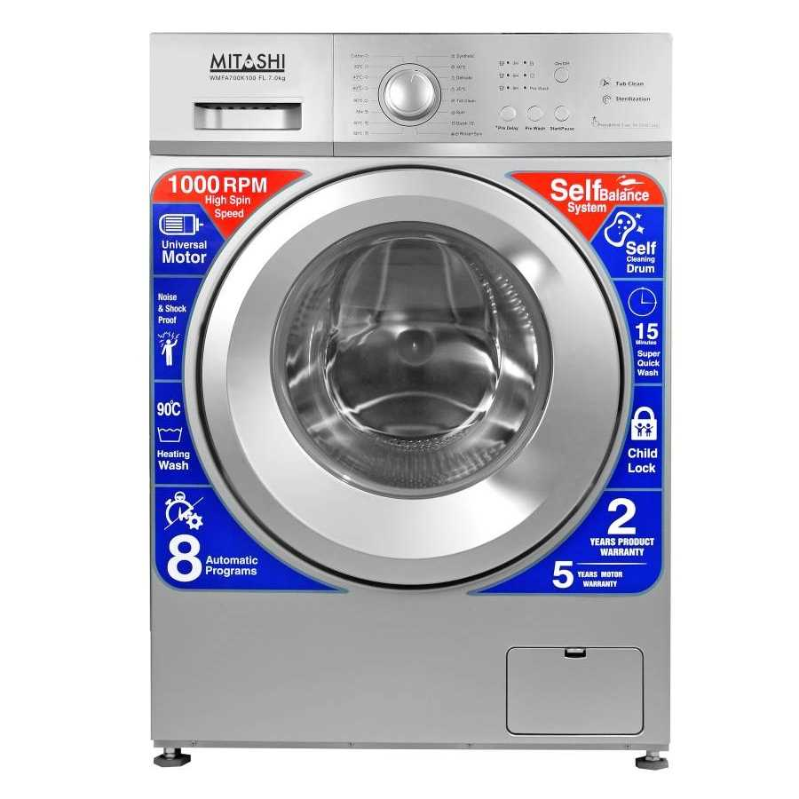 Mitashi WMFA700K100 FL 7 Kg Fully Automatic Front Loading Washing Machine