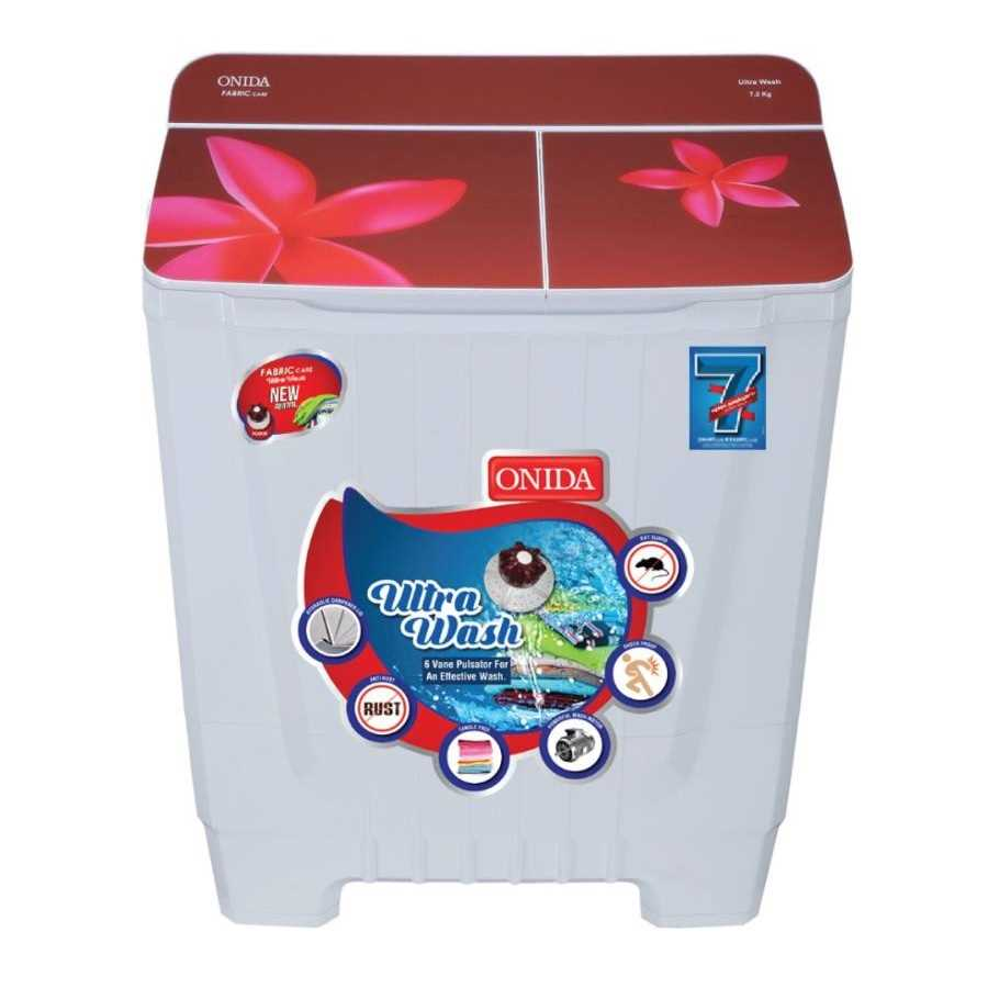 Onida S72GS 7.2 Kg Semi Automatic Top Loading Washing Machine