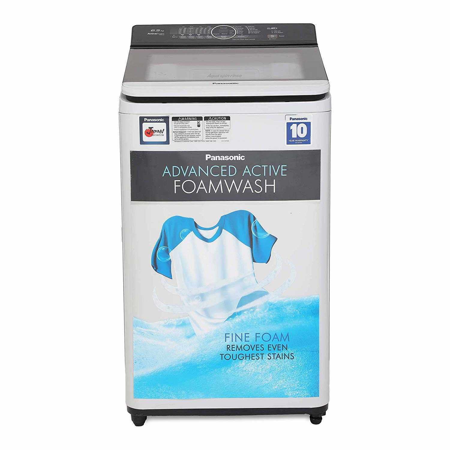 Panasonic NA-F65A7HRB 6.5 Kg Fully Automatic Top Loading Washing Machine