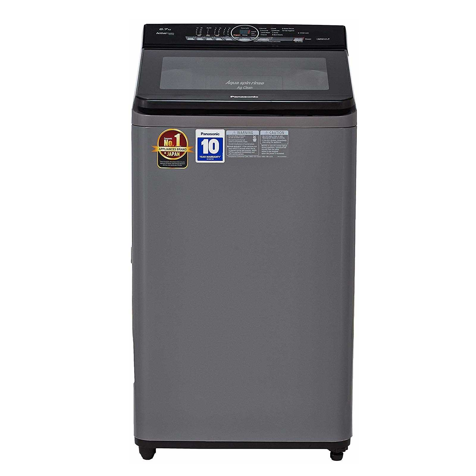 Panasonic NA F67A8 6.7 Kg Fully Automatic Top Loading Washing Machine