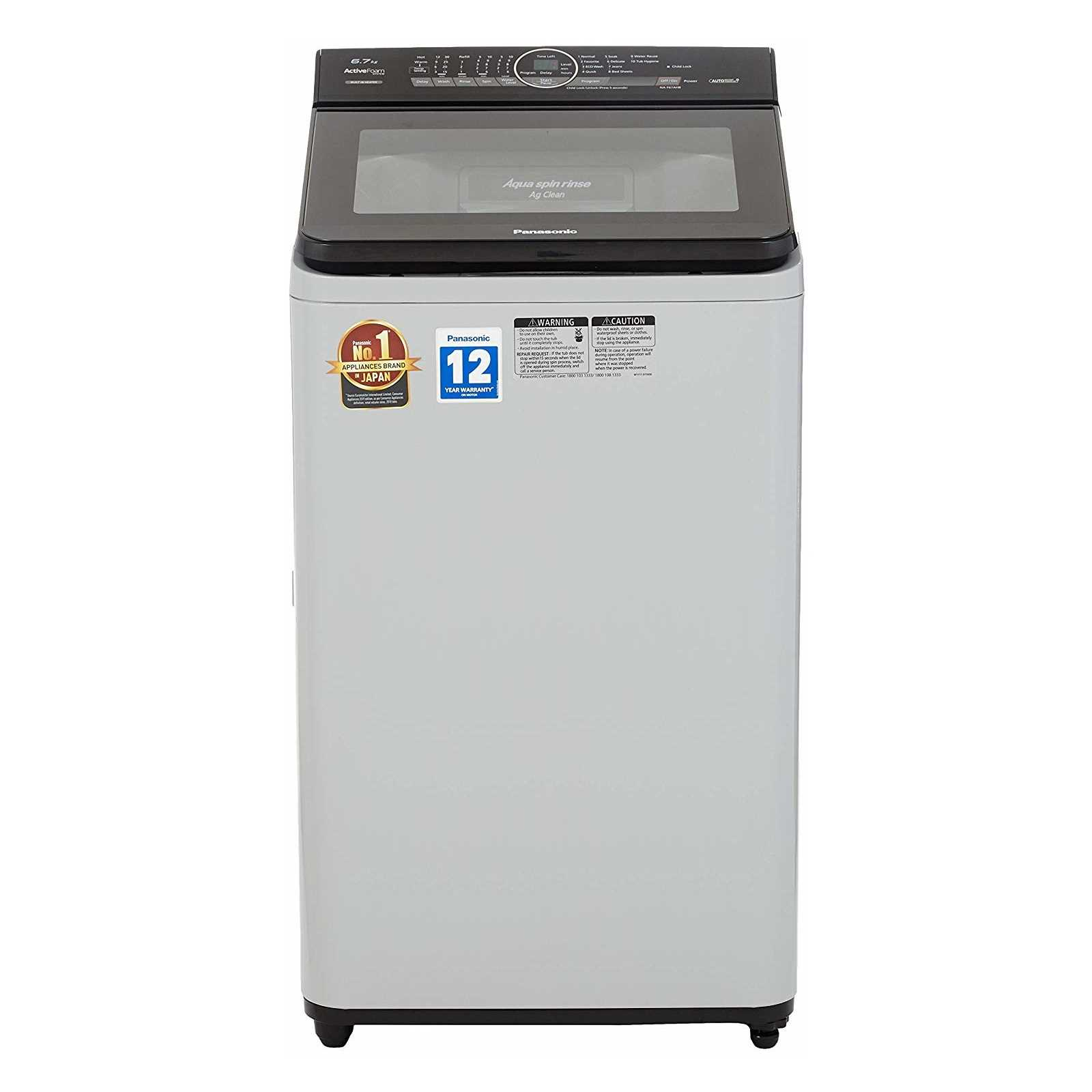Panasonic NA F67AH8 6.7 Kg Fully Automatic Top Loading Washing Machine