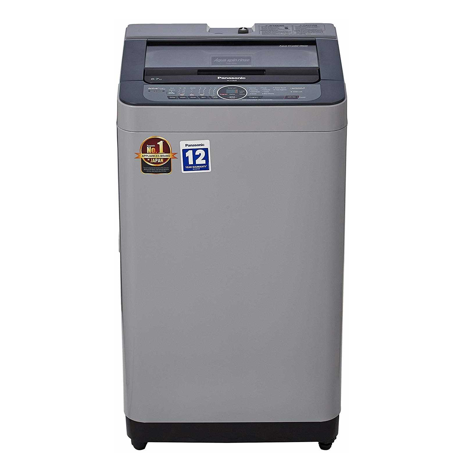 Panasonic NA F67BH8 6.7 Kg Fully Automatic Top Loading Washing Machine