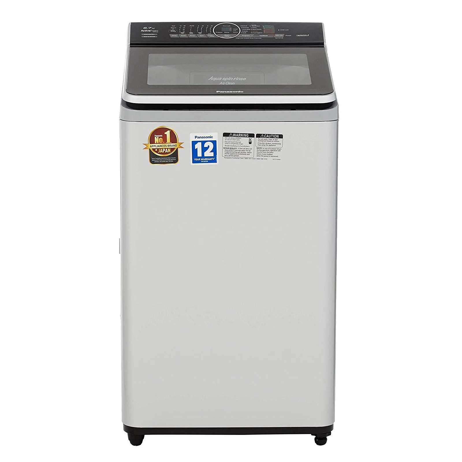 Panasonic NA F67V8 6.7 Kg Fully Automatic Top Loading Washing Machine