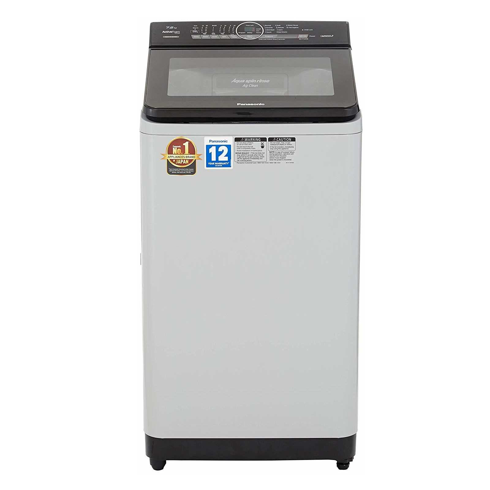 Panasonic NA F72AH8 7.2 Kg Fully Automatic Top Loading Washing Machine